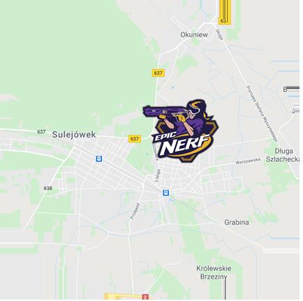 lokalizacja zajęć nerf polska